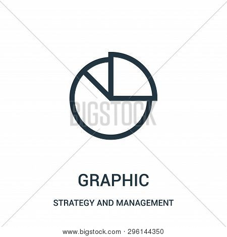 Graphic Icon Isolated On White Background From Strategy And Management Collection. Graphic Icon Tren