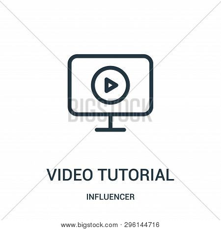 Video Tutorial Icon Isolated On White Background From Influencer Collection. Video Tutorial Icon Tre