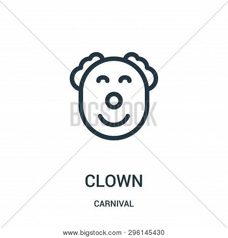 Clown Icon Isolated On White Background From Carnival Collection. Clown Icon Trendy And Modern Clown