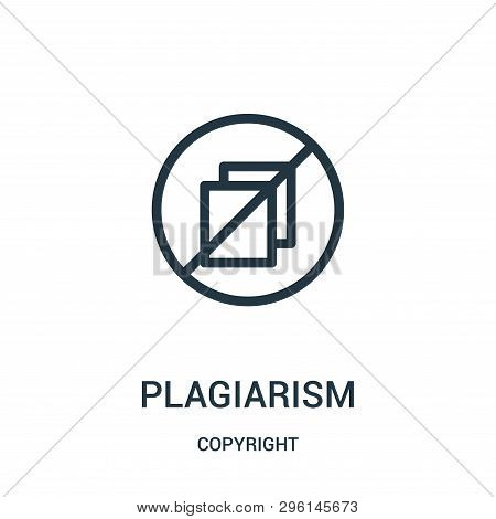 Plagiarism Icon Isolated On White Background From Copyright Collection. Plagiarism Icon Trendy And M