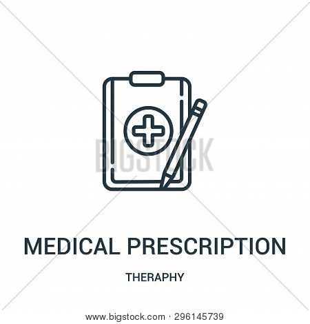 Medical Prescription Icon Isolated On White Background From Theraphy Collection. Medical Prescriptio