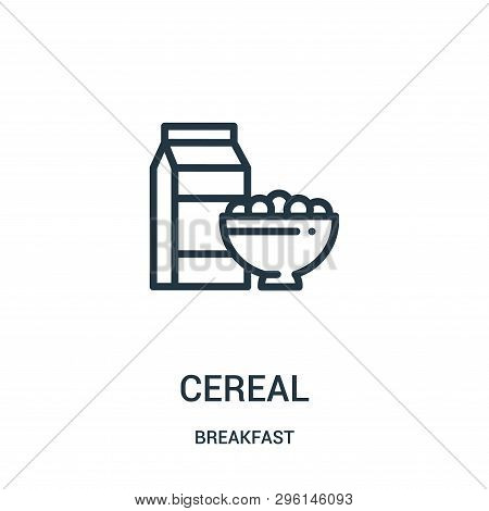 Cereal Icon Isolated On White Background From Breakfast Collection. Cereal Icon Trendy And Modern Ce
