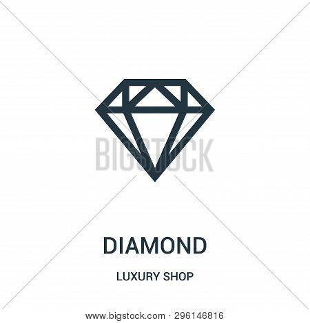 Diamond Icon Isolated On White Background From Luxury Shop Collection. Diamond Icon Trendy And Moder