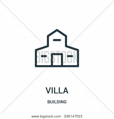 Villa Icon Isolated On White Background From Building Collection. Villa Icon Trendy And Modern Villa