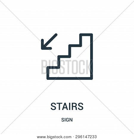 Stairs Icon Isolated On White Background From Sign Collection. Stairs Icon Trendy And Modern Stairs