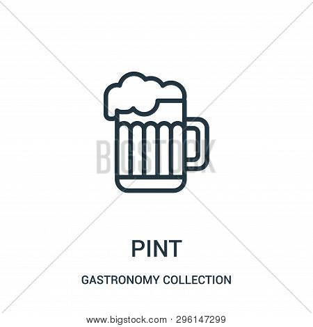 Pint Icon Isolated On White Background From Gastronomy Collection. Pint Icon Trendy And Modern Pint