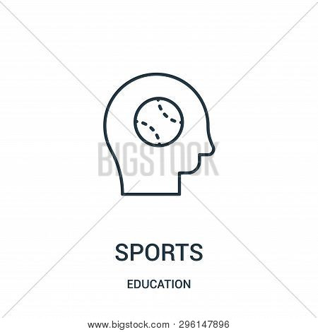 Sports Icon Isolated On White Background From Education Collection. Sports Icon Trendy And Modern Sp