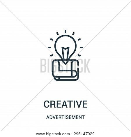 Creative Icon Isolated On White Background From Advertisement Collection. Creative Icon Trendy And M