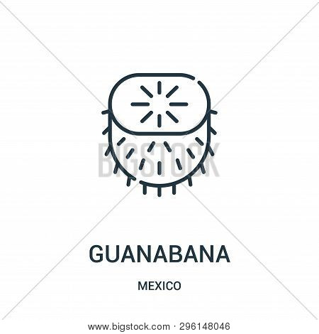 Guanabana Icon Isolated On White Background From Mexico Collection. Guanabana Icon Trendy And Modern