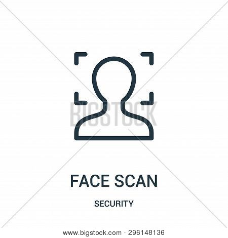 Face Scan Icon Isolated On White Background From Security Collection. Face Scan Icon Trendy And Mode