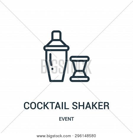 Cocktail Shaker Icon Isolated On White Background From Event Collection. Cocktail Shaker Icon Trendy