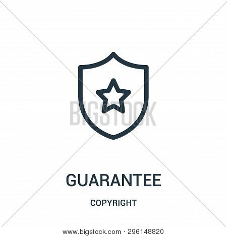 Guarantee Icon Isolated On White Background From Copyright Collection. Guarantee Icon Trendy And Mod