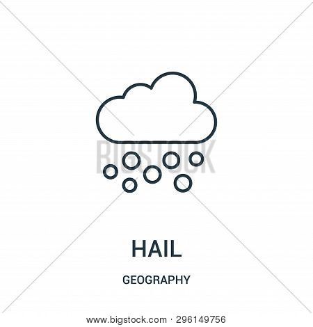 Hail Icon Isolated On White Background From Geography Collection. Hail Icon Trendy And Modern Hail S
