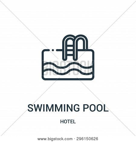 Swimming Pool Icon Isolated On White Background From Hotel Collection. Swimming Pool Icon Trendy And