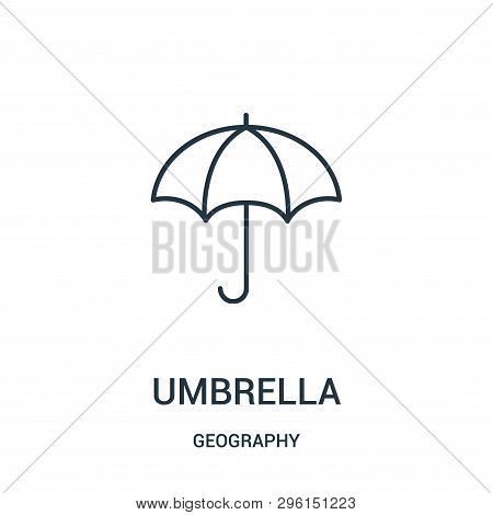 Umbrella Icon Isolated On White Background From Geography Collection. Umbrella Icon Trendy And Moder