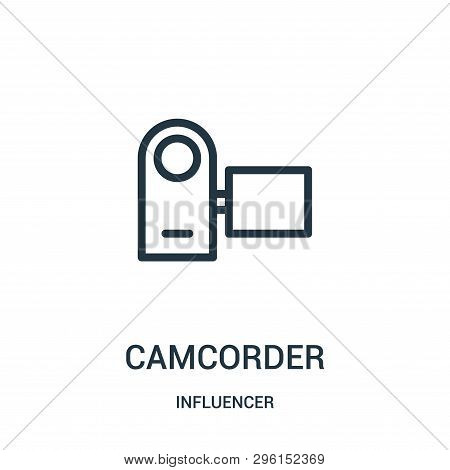Camcorder Icon Isolated On White Background From Influencer Collection. Camcorder Icon Trendy And Mo