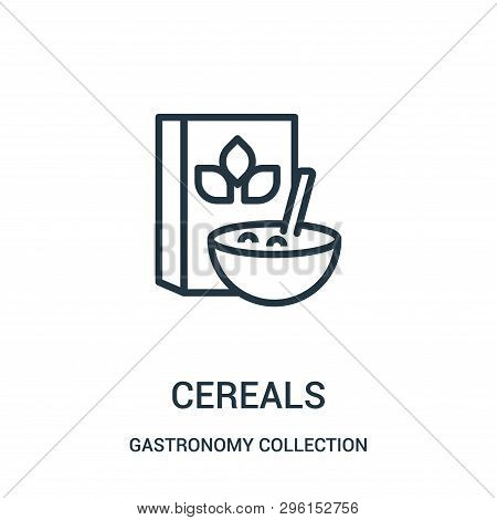 Cereals Icon Isolated On White Background From Gastronomy Collection. Cereals Icon Trendy And Modern