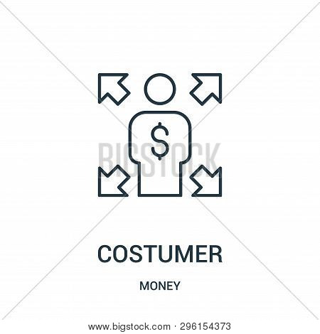 Costumer Icon Isolated On White Background From Money Collection. Costumer Icon Trendy And Modern Co