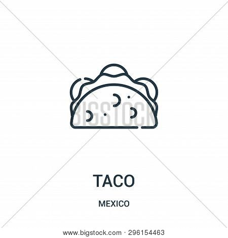Taco Icon Isolated On White Background From Mexico Collection. Taco Icon Trendy And Modern Taco Symb