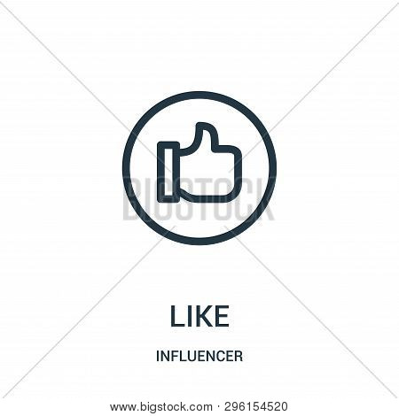 Like Icon Isolated On White Background From Influencer Collection. Like Icon Trendy And Modern Like