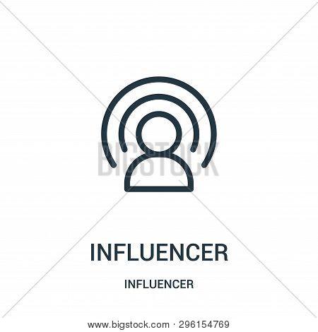 Influencer Icon Isolated On White Background From Influencer Collection. Influencer Icon Trendy And