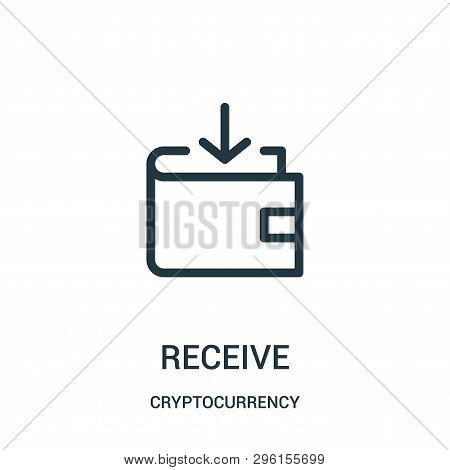 Receive Icon Isolated On White Background From Cryptocurrency Collection. Receive Icon Trendy And Mo