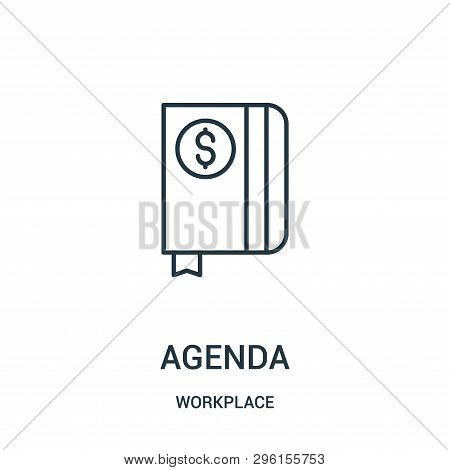 Agenda Icon Isolated On White Background From Workplace Collection. Agenda Icon Trendy And Modern Ag