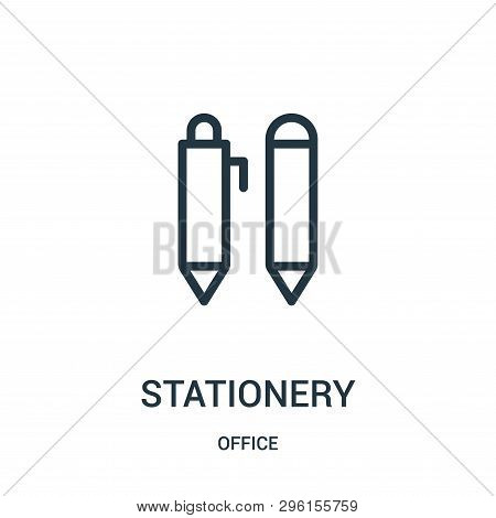 Stationery Icon Isolated On White Background From Office Collection. Stationery Icon Trendy And Mode