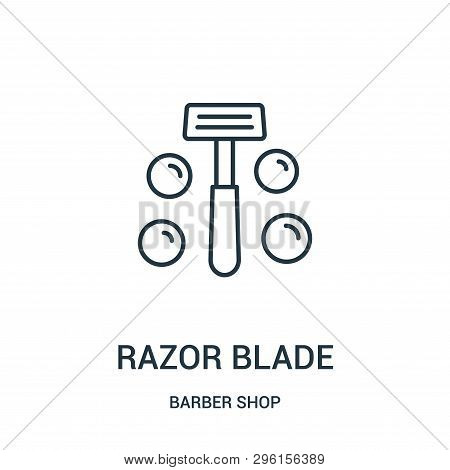 Razor Blade Icon Isolated On White Background From Barber Shop Collection. Razor Blade Icon Trendy A