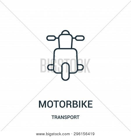 Motorbike Icon Isolated On White Background From Transport Collection. Motorbike Icon Trendy And Mod