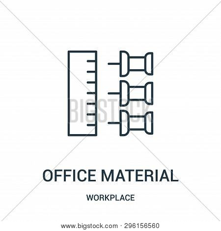 Office Material Icon Isolated On White Background From Workplace Collection. Office Material Icon Tr