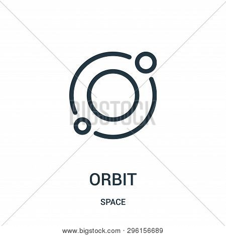 Orbit Icon Isolated On White Background From Space Collection. Orbit Icon Trendy And Modern Orbit Sy