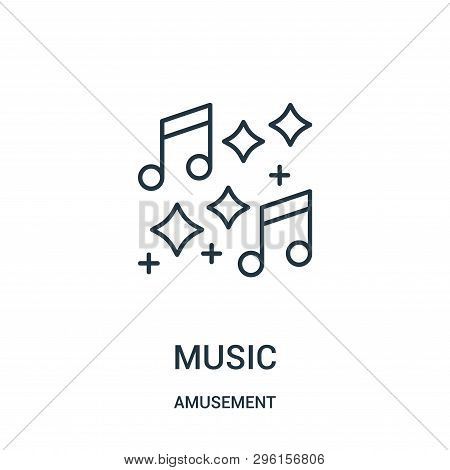 Music Icon Isolated On White Background From Amusement Collection. Music Icon Trendy And Modern Musi