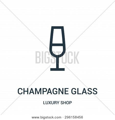 Champagne Glass Icon Isolated On White Background From Luxury Shop Collection. Champagne Glass Icon