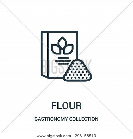 Flour Icon Isolated On White Background From Gastronomy Collection. Flour Icon Trendy And Modern Flo