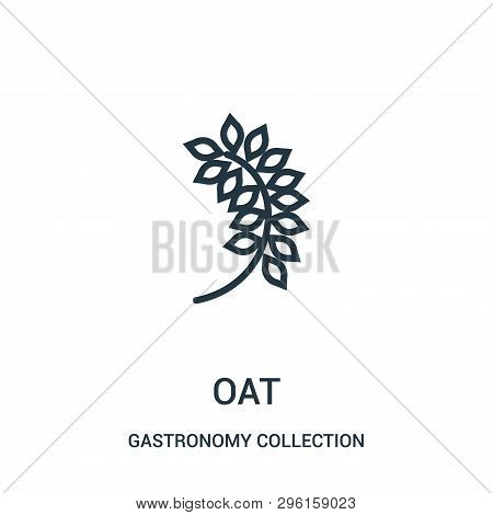 Oat Icon Isolated On White Background From Gastronomy Collection. Oat Icon Trendy And Modern Oat Sym