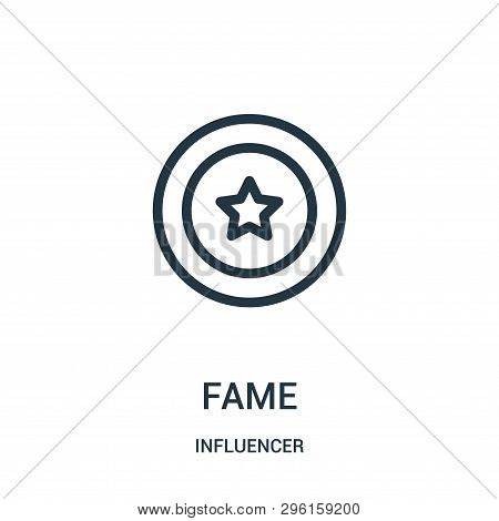 Fame Icon Isolated On White Background From Influencer Collection. Fame Icon Trendy And Modern Fame