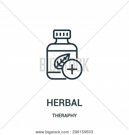 herbal icon isolated on white background from theraphy collection. herbal icon trendy and modern herbal symbol for logo, web, app, UI. herbal icon simple sign. herbal icon flat vector illustration for graphic and web design. poster