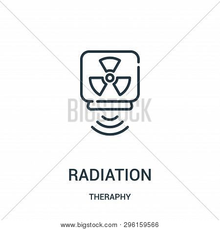 Radiation Icon Isolated On White Background From Theraphy Collection. Radiation Icon Trendy And Mode