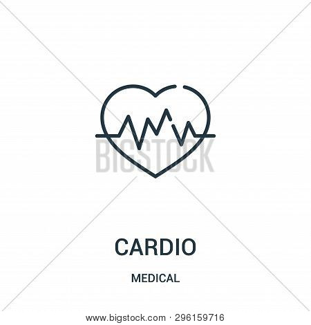 Cardio Icon Isolated On White Background From Medical Collection. Cardio Icon Trendy And Modern Card