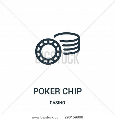 Poker Chip Icon Isolated On White Background From Casino Collection. Poker Chip Icon Trendy And Mode
