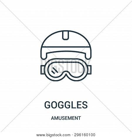 Goggles Icon Isolated On White Background From Amusement Collection. Goggles Icon Trendy And Modern