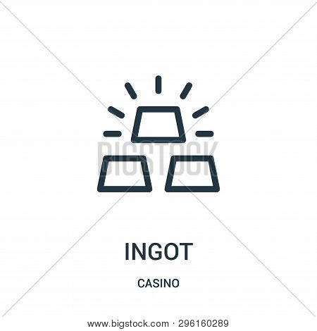 Ingot Icon Isolated On White Background From Casino Collection. Ingot Icon Trendy And Modern Ingot S