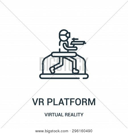 Vr Platform Icon Isolated On White Background From Virtual Reality Collection. Vr Platform Icon Tren