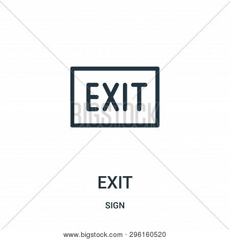 Exit Icon Isolated On White Background From Sign Collection. Exit Icon Trendy And Modern Exit Symbol