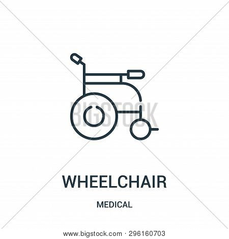 Wheelchair Icon Isolated On White Background From Medical Collection. Wheelchair Icon Trendy And Mod