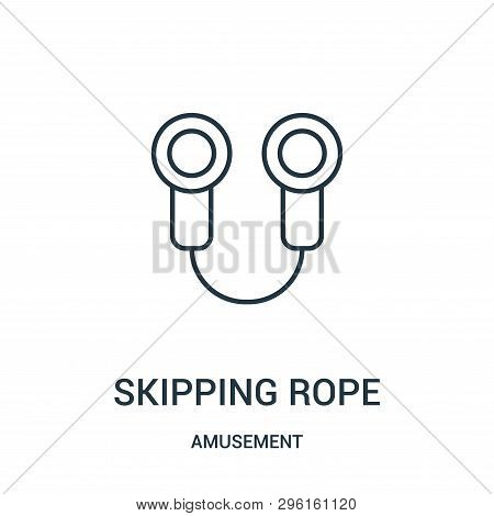 Skipping Rope Icon Isolated On White Background From Amusement Collection. Skipping Rope Icon Trendy