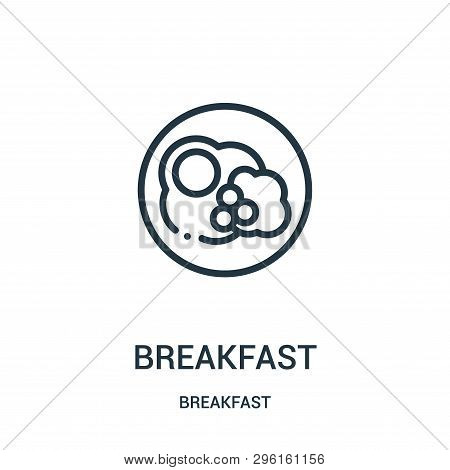 Breakfast Icon Isolated On White Background From Breakfast Collection. Breakfast Icon Trendy And Mod