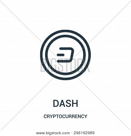 Dash Icon Isolated On White Background From Cryptocurrency Collection. Dash Icon Trendy And Modern D