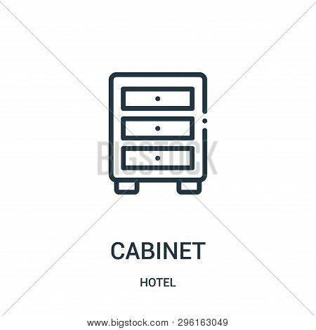 Cabinet Icon Isolated On White Background From Hotel Collection. Cabinet Icon Trendy And Modern Cabi